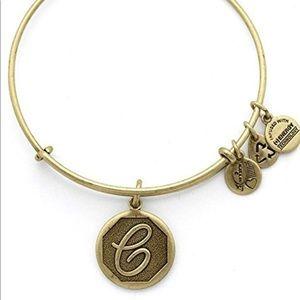 NWT Alex and Ani Initial C Bracelet - Gold